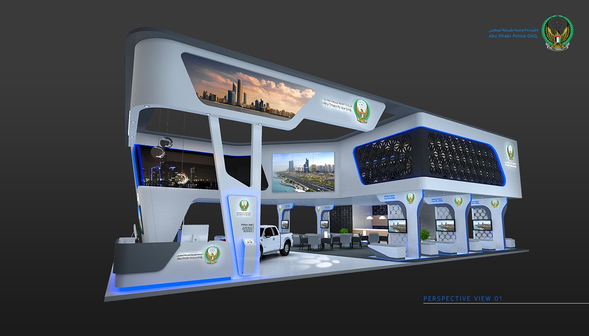 Exhibition Stand Abu Dhabi : Abu dhabi police on behance exhibition pinterest