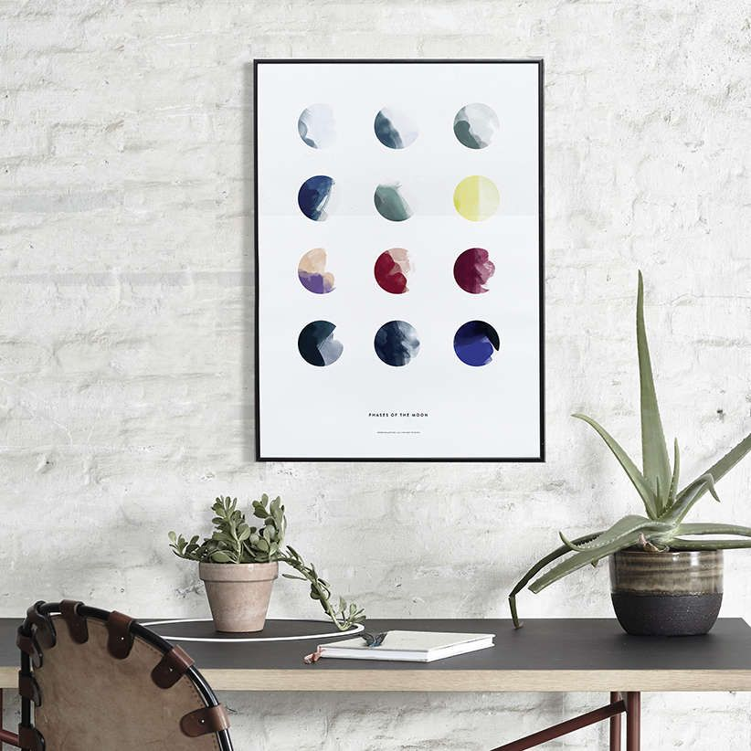 Paper collective plakat 30x40 moon phases   Hjem