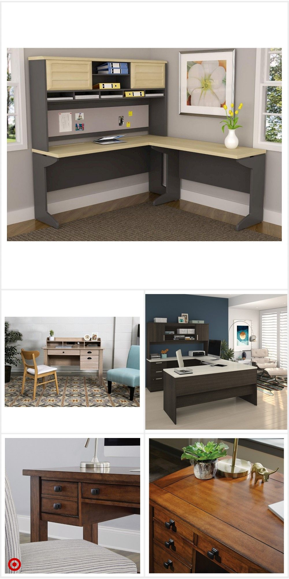 Shop Target For Executive Desk You Will Love At Great Low Prices Free Shipping On Orders Of 35 Or Free Same Home Office Setup Home Decor Home Office Design