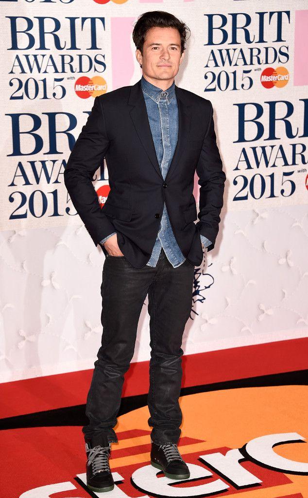 Orlando Bloom from 2015 Brit Awards | E! Online