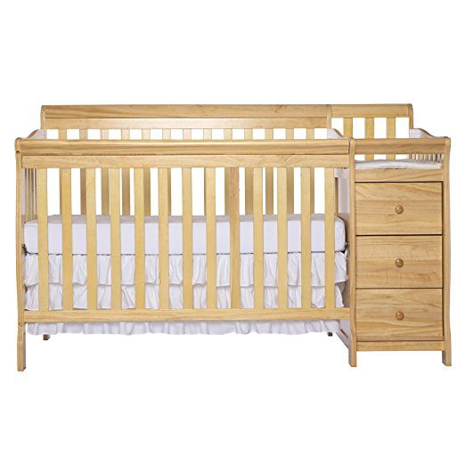 Amazon Com Dream On Me 5 In 1 Brody Convertible Crib With Changer Black Baby Cribs Bed Frame Mattress Convertible Crib