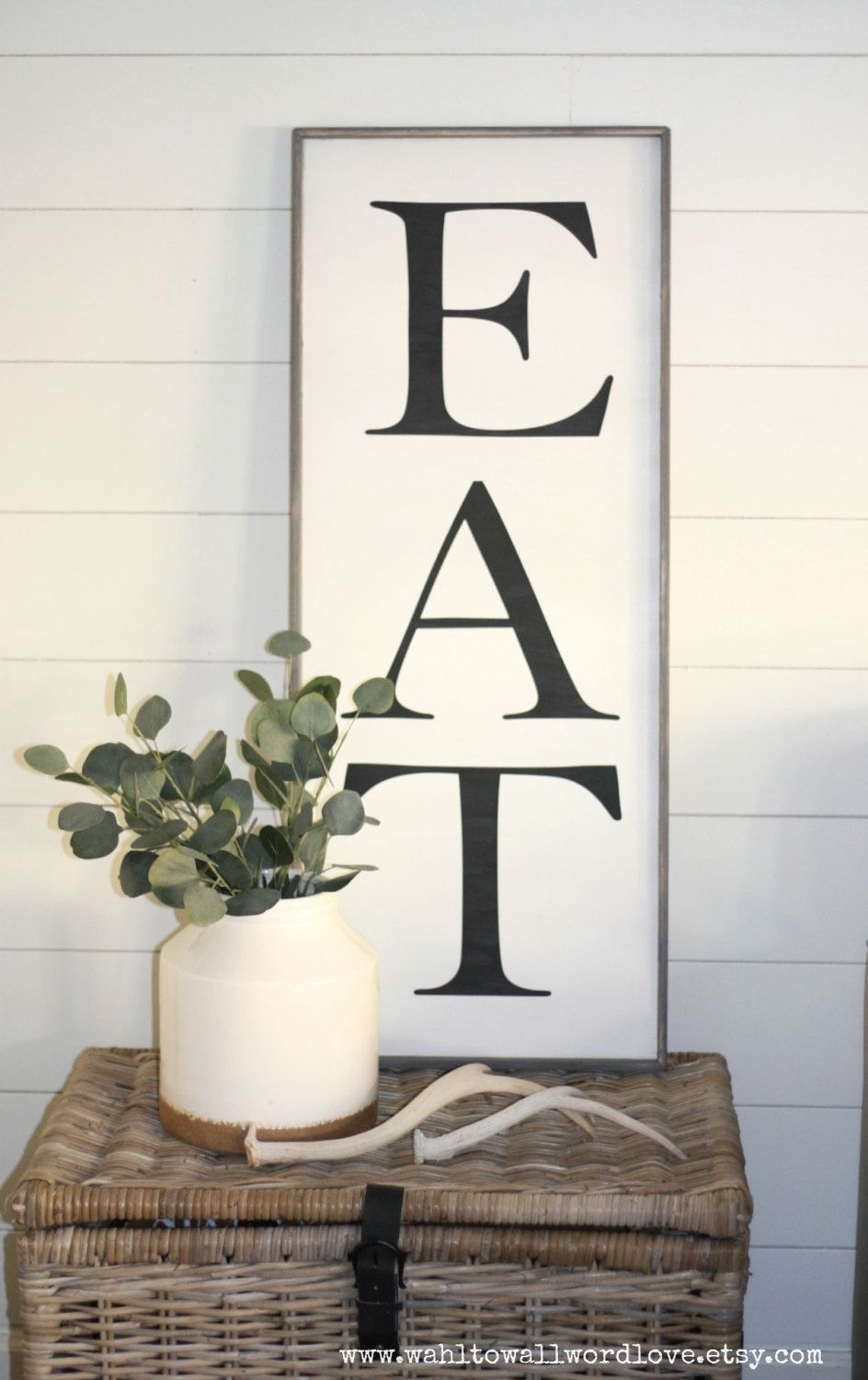 Eat Sign Medium Eat Wooden Sign 12 By 24 Kitchen Wall Decor Kitchen Wood Eat Sign Rustic Vintage Style H Kitchen Wall Art Diy Eat Sign Diy Dining
