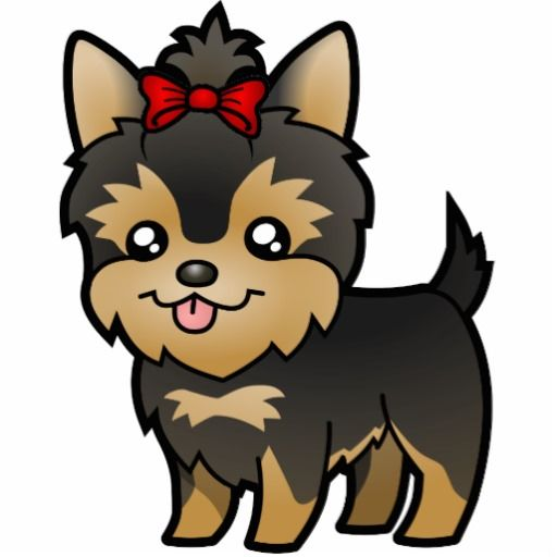 Cute cartoon yorkie Stock Photos, Images, & Pictures ...