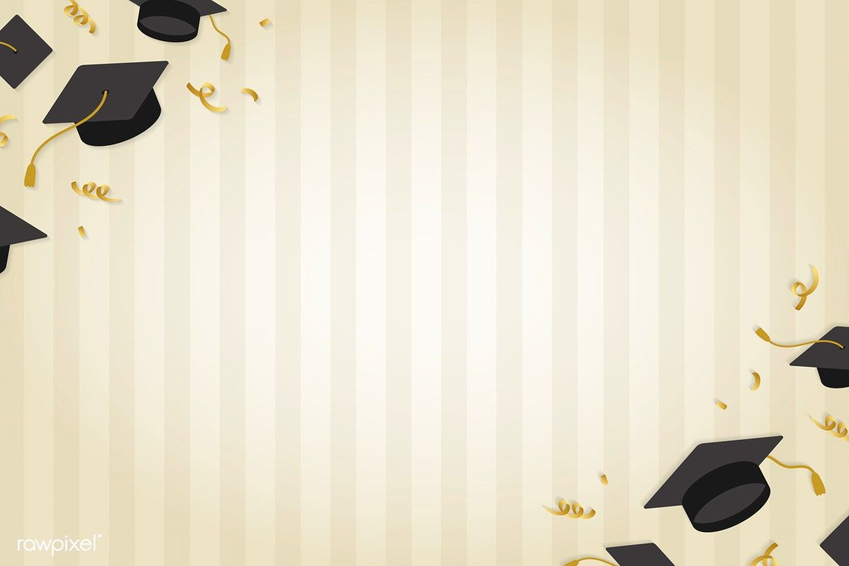Graduation Background With Mortar Boards Vector Free Image By Rawpixel Com Ningzk V Vector Free Graduation Wallpaper Poster Background Design