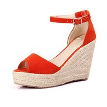 Plus Size 34-44 Summer Style Women Wedge Sandals Fashion Concise Open Toe Platform High Heels Women Sandals Ladies Casual Shoes(China (Mainland))