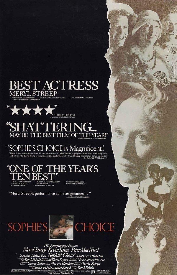 Sophie S Choice 1982 Sophie S Choice Kevin Kline Meryl Streep