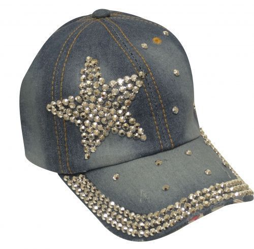 9cbc68743c726 caps for cowgirl. Showman Couture ™ Bling denim hat with crystal rhinestone  star.