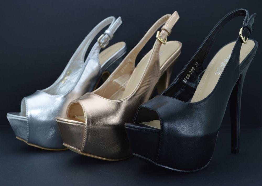 Scarpe donna sandali vernice tacco alto a spillo plateau e fibbia decoltè  estive e8d54f3246e