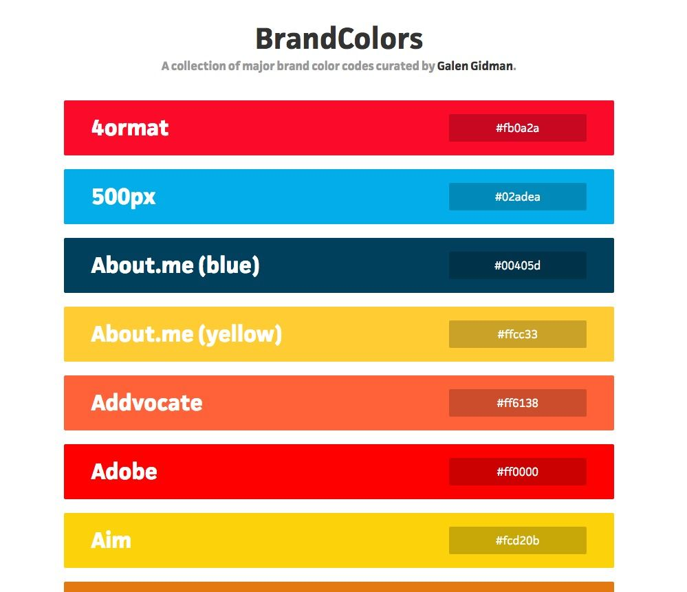Color Hexa D24600 Page 4: Brand Colors (hex Codes) Provide An Intriguing Barometer Of Predominant Web Brands