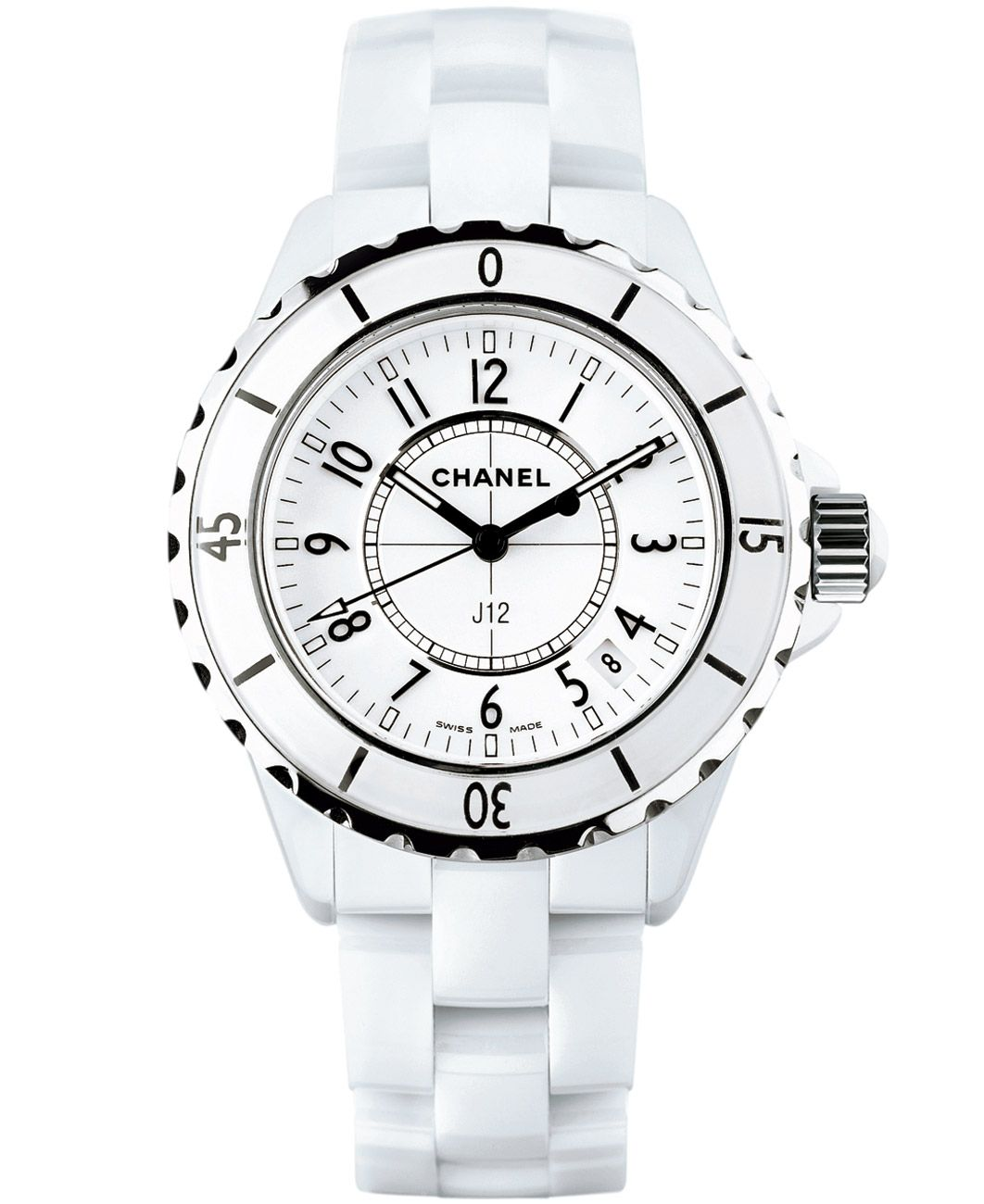 black quartz ladies chanel watches diamond dial watch white