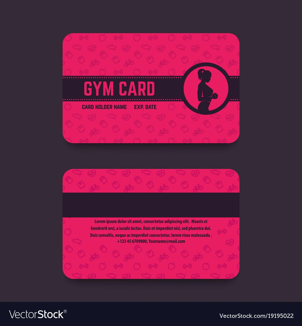 Fitness Club Gym Card Template Within Gym Membership Card Template Best Business Templates Gym Membership Card Membership Card Gym Membership