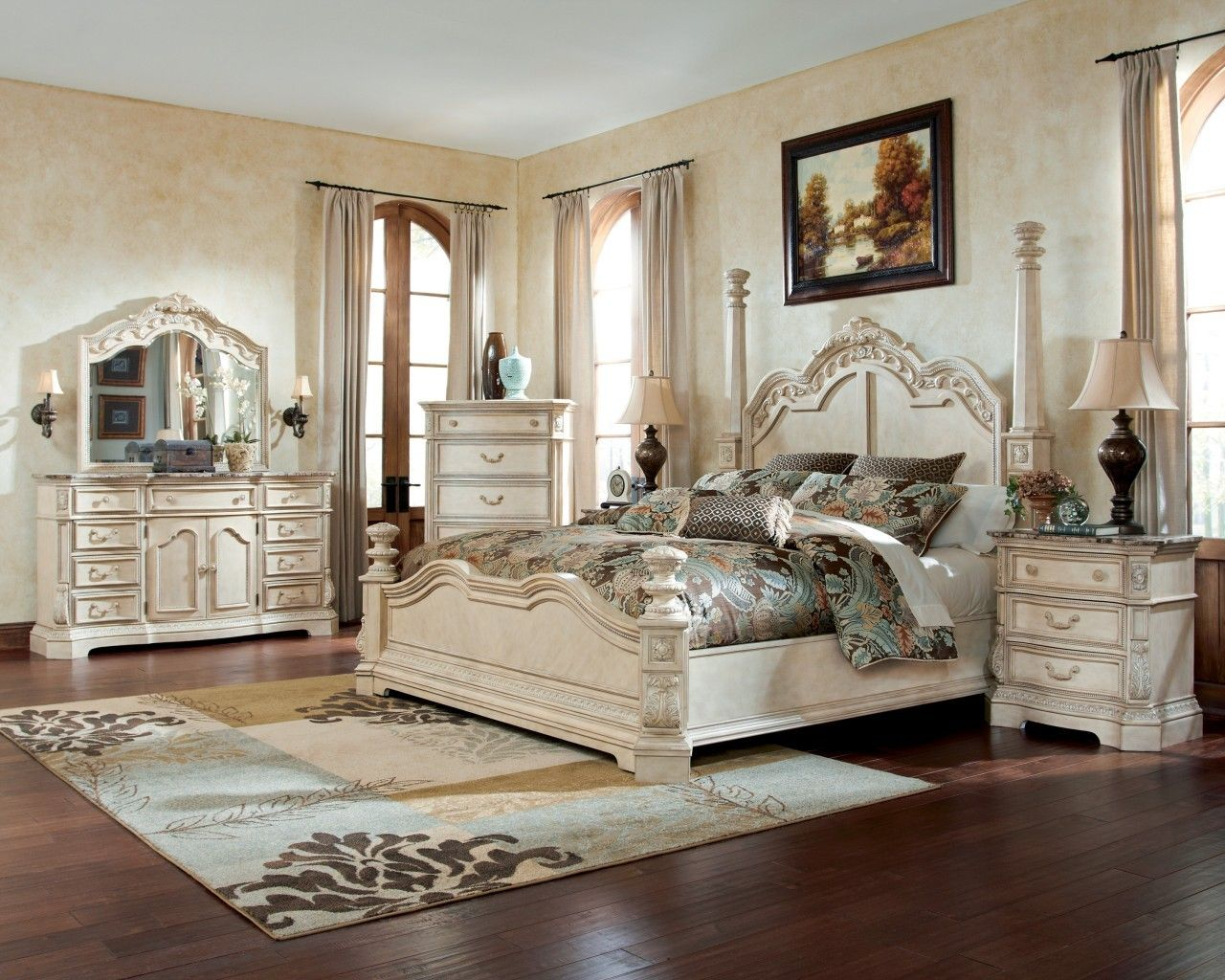 poster bedroom sets | 7pc Ortanique bedroom collection - Miami ...