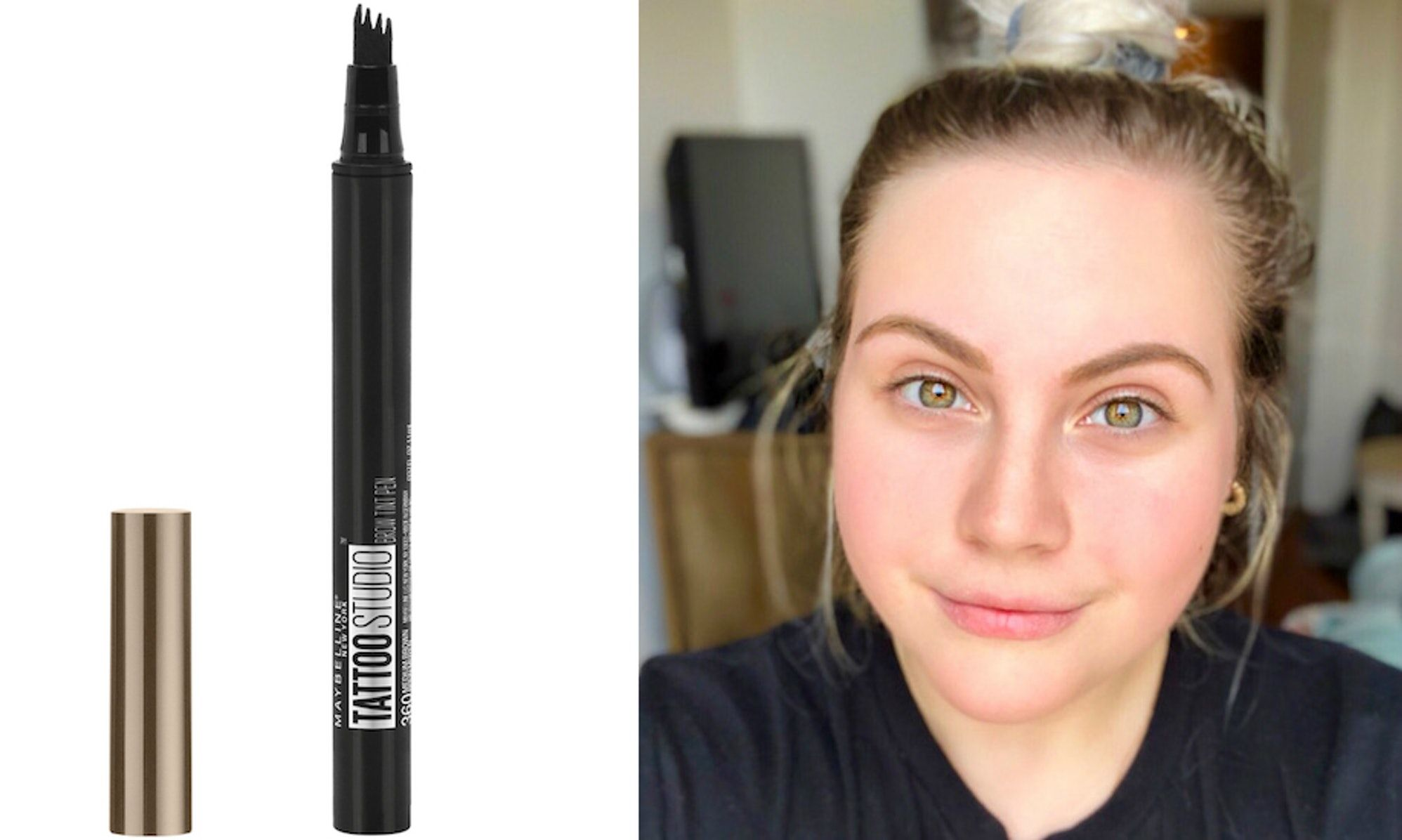 I Tried Maybelline's Tattoo Studio Brow Tint Pen & It's