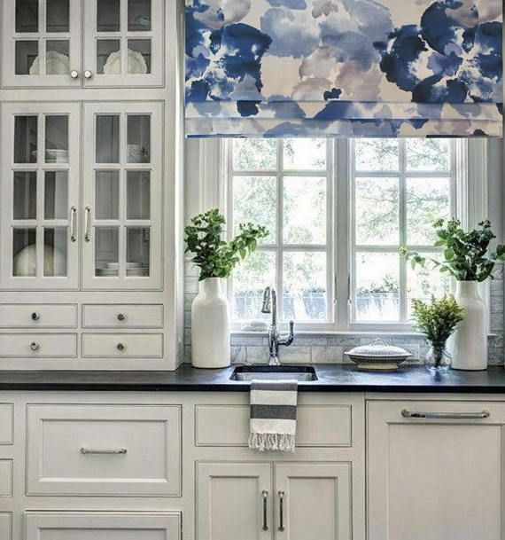 Wood Valance Over Kitchen Sink: Faux Roman Shade Lined Mock Valance Robert Allen @ Home