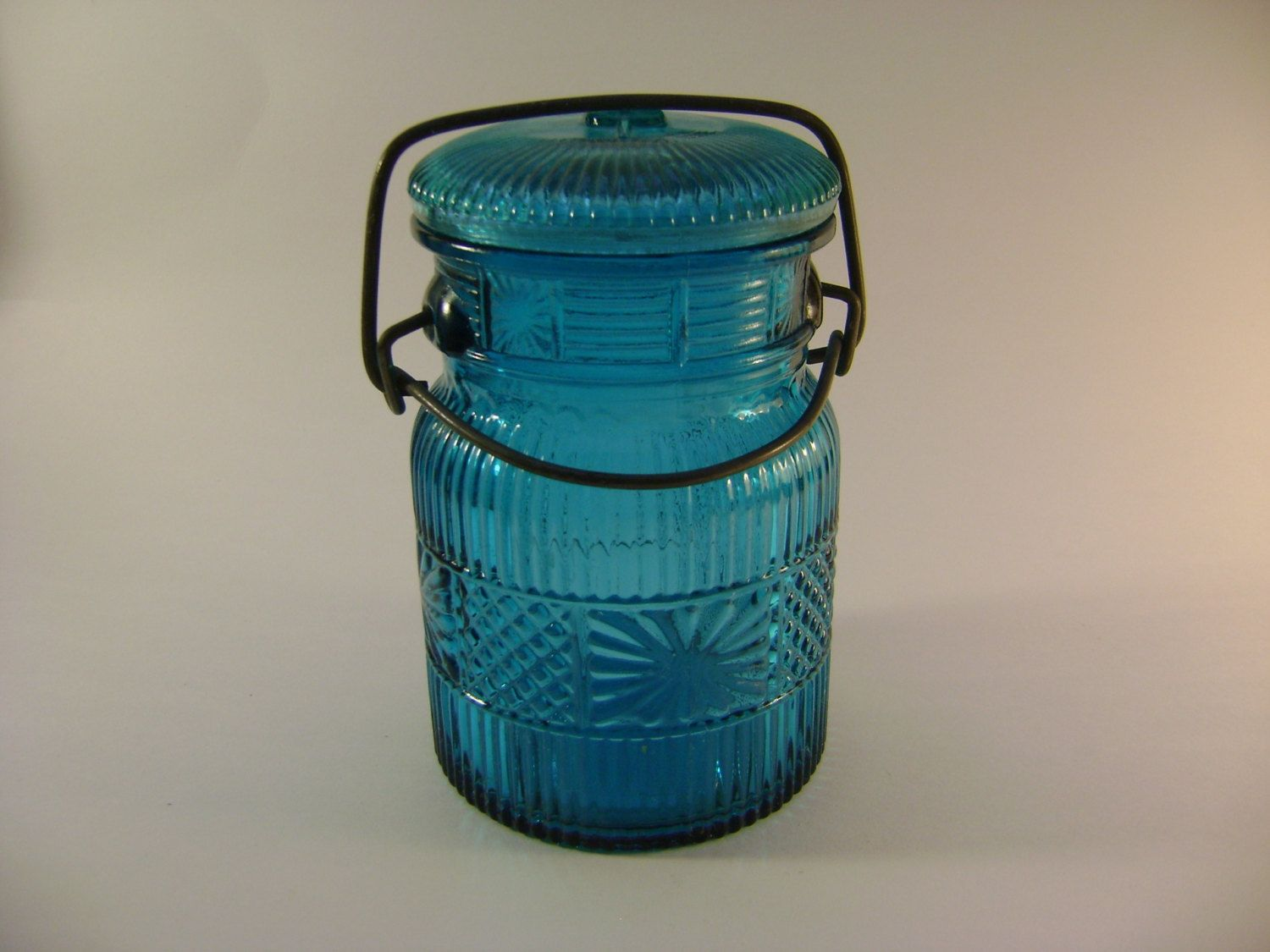 Avon Canning Jar, turquoise/teal/blue, Wire bale closure, Canning ...
