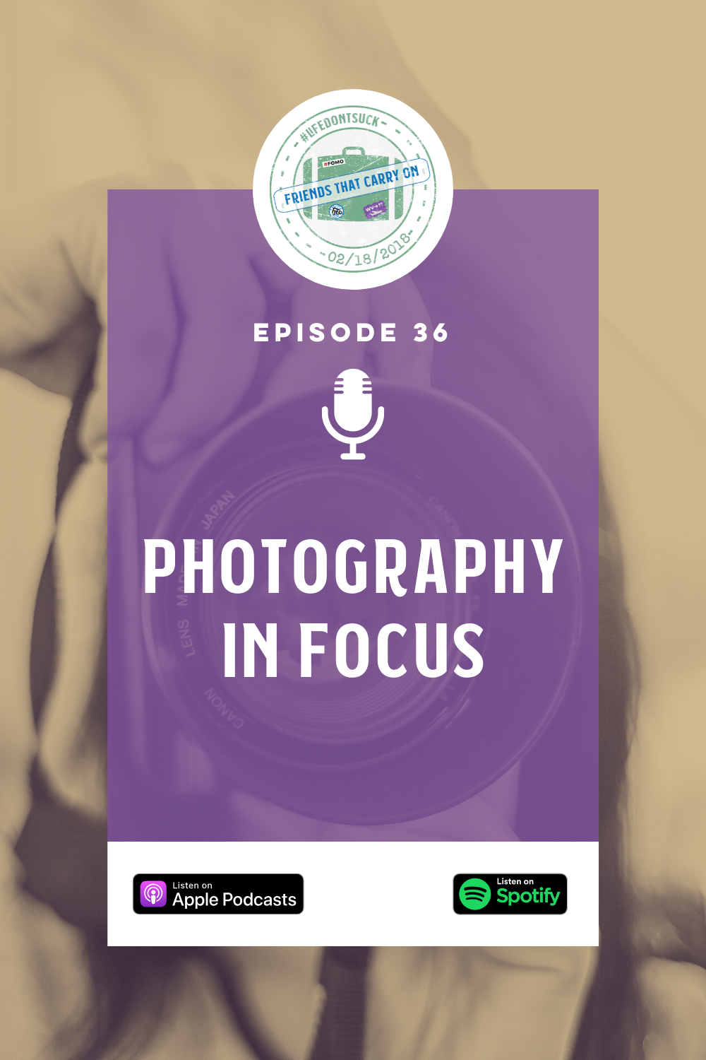 Join the Friends as they discuss photography, the importance of a quality photograph, and essential tips to improve your photos!  #Photography #Travel #Pictures #Focus #Podcasts