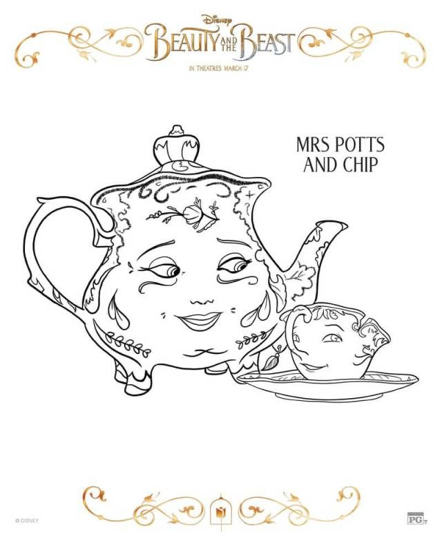 Disney Beauty And The Beast Coloring Pages Free Coloring Pages For