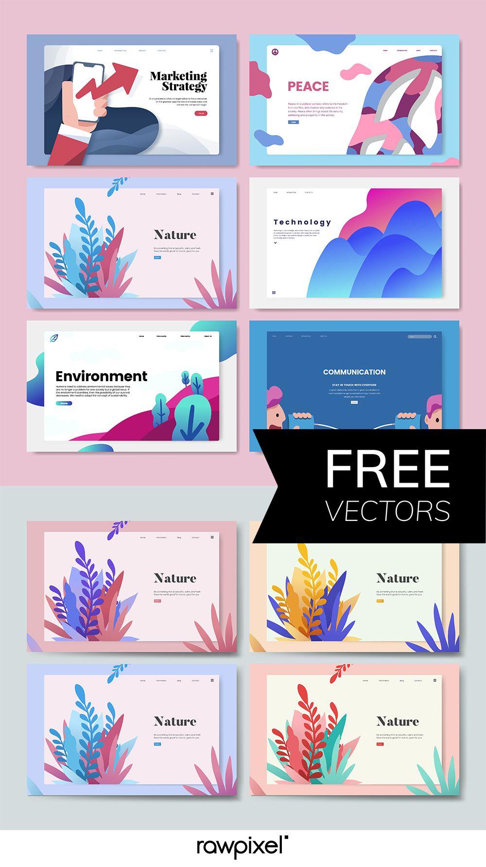 Web Templates Vectors Powerpoint Presentation Design Powerpoint Design Templates Presentation Design