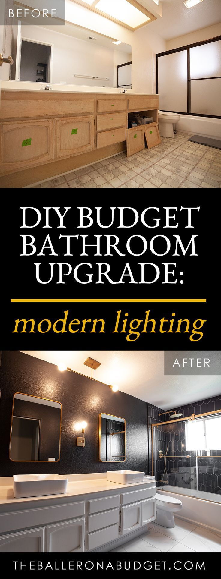 Hallway Bathroom Update: Updated Vanity and Lights Featuring Lights.com