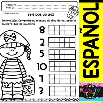 NoPrep Printables Math Halloween in Spanish (con