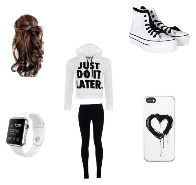 Chill outfit by kaywisorbet on Polyvore featuring polyvore, fashion, style, WearAll, NIKE, Converse and Zero Gravity