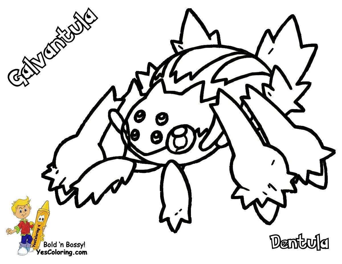 Pokemon Coloring Pages Joltik Cartoon Coloring Pages Pokemon