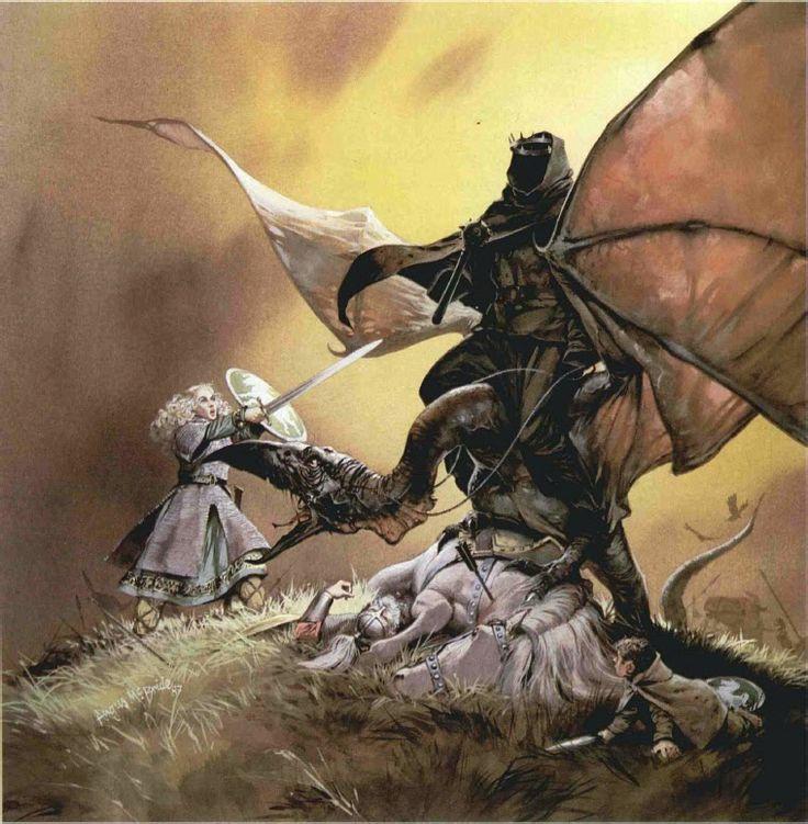 Angus McBride-Erwen and the Nazgul
