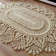 Вязание крючком салфеток-ковриков схемы