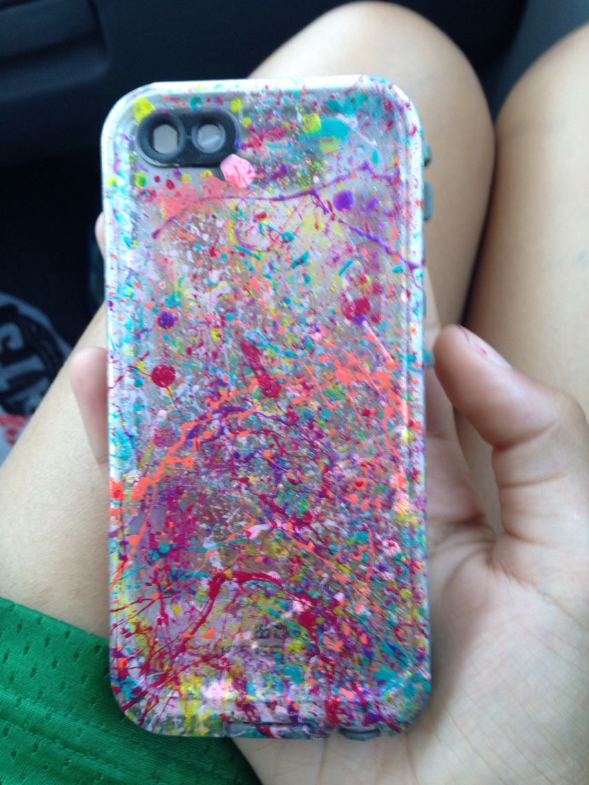Nail Polish Splatter Phone Case Materials: 1. Nail Polish 5+ Colors ...