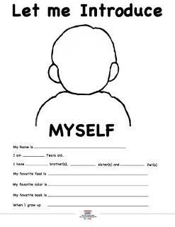Back to School: FREE printable 'Let me introduce myself' | Classroom ...