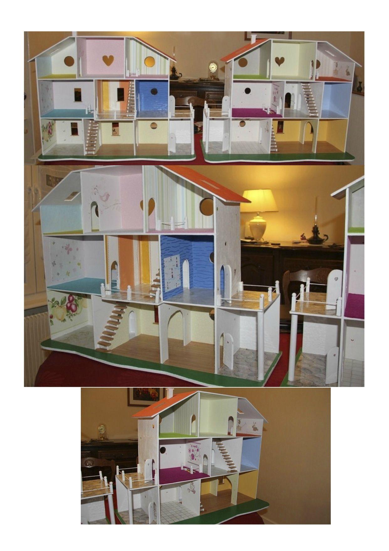 Expo photos des r alisations de maisons de poup es le nuancier de marie maison de poupee en - Plan de maison de barbie ...