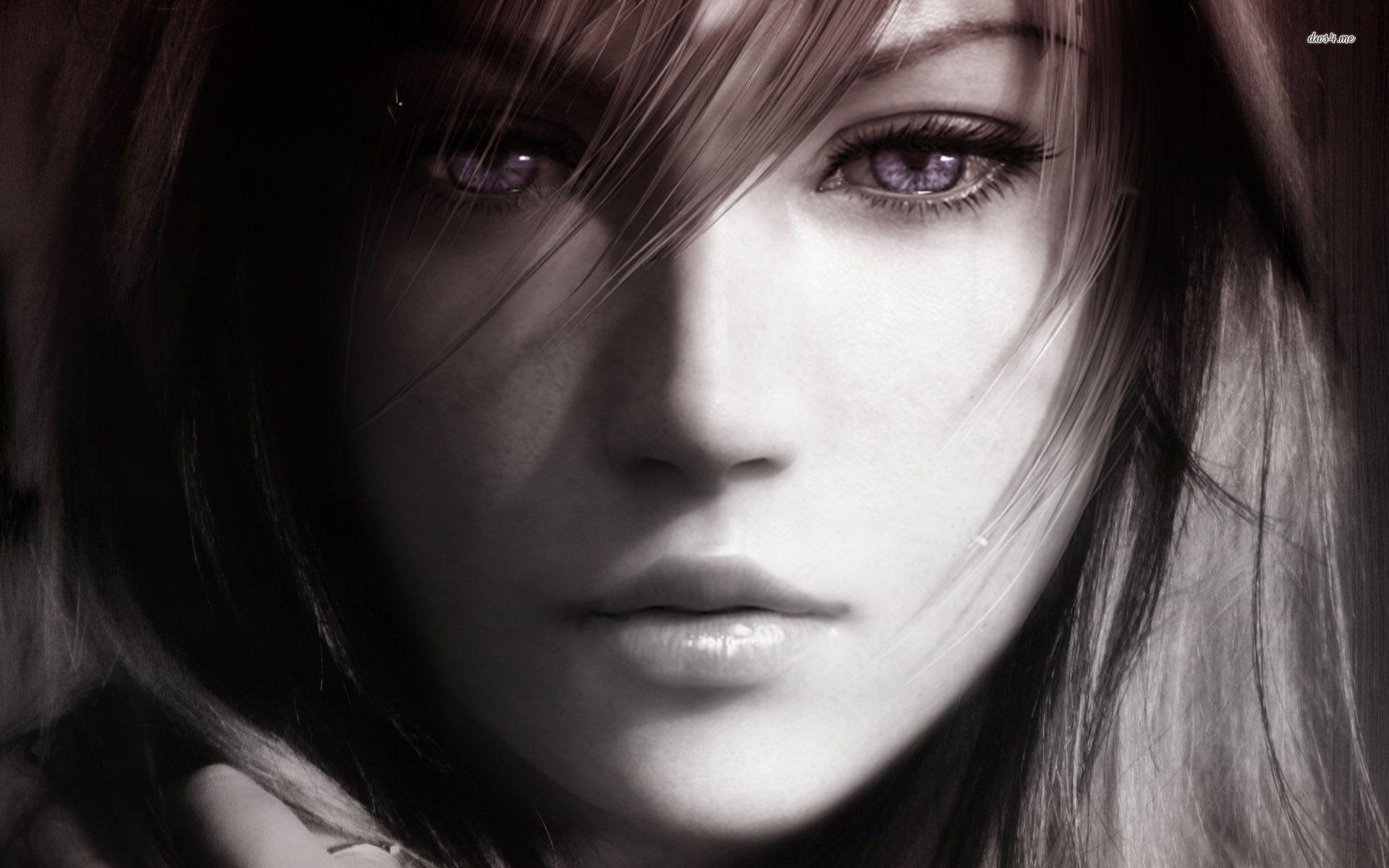 She Has Long Hair Art Numerique Xiv Finale Fantastique Image Fantastique