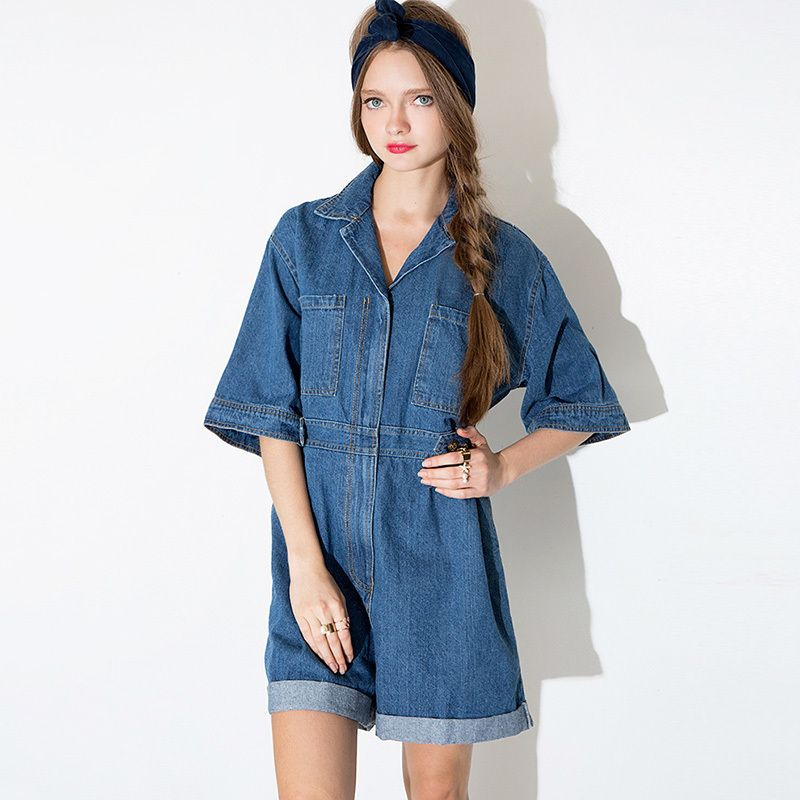 Bf Blue Jean Rompers Plus Size Casual Rompers Womens Jumpsuit Women