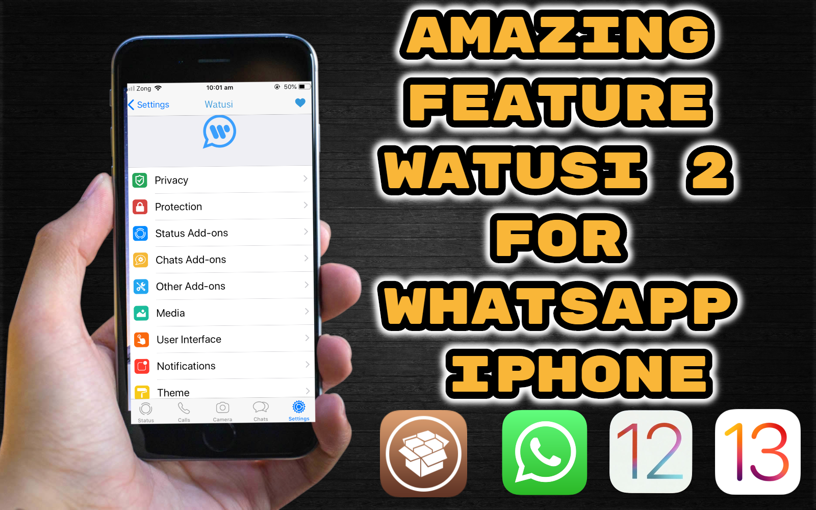 Whatsappp New Feature For Iphone Ipad 2019 Watusi 2 For Whatsapp With Jailbreak Ios 12 1 4 Ios 12 4 Iphone App Badges Ipad