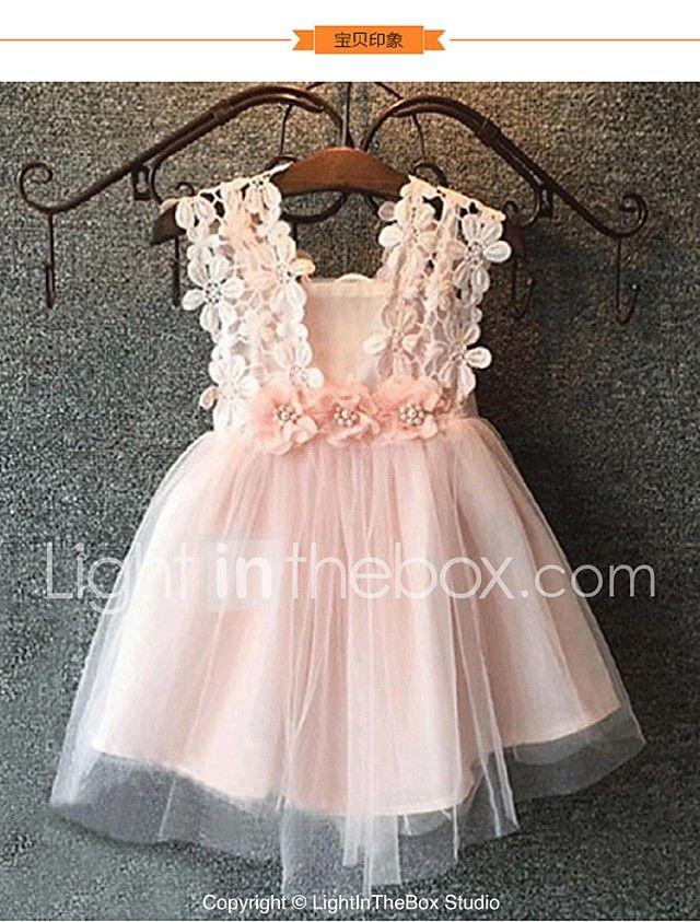 Salón Hasta La Rodilla Vestido De Niña Florista Tul Sin Mangas Con Por 2021 Us 39 99 Flower Girl Dresses Toddler Dress Girl Outfits