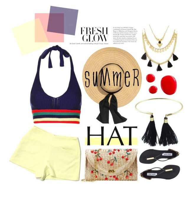 """Top It Off: Summer Hats"" by miee0105 ❤ liked on Polyvore featuring Topshop, Forever 21, BCBGeneration, Steve Madden and summerhat"