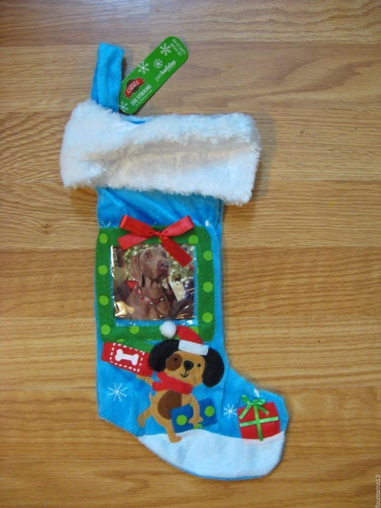 Plush Christmas Stocking For Dogs With Photo Insert Dog Stockings