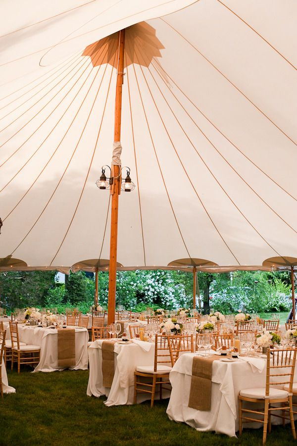 Backyard Wedding in New England by The Graziers   Tent ...