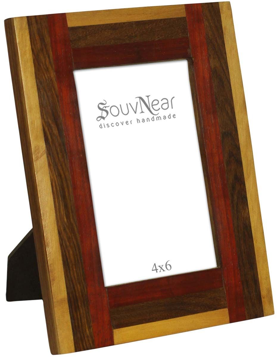 4x6 Inches Brown Beige & Maroon Picture Frame in Bulk - Wholesale ...