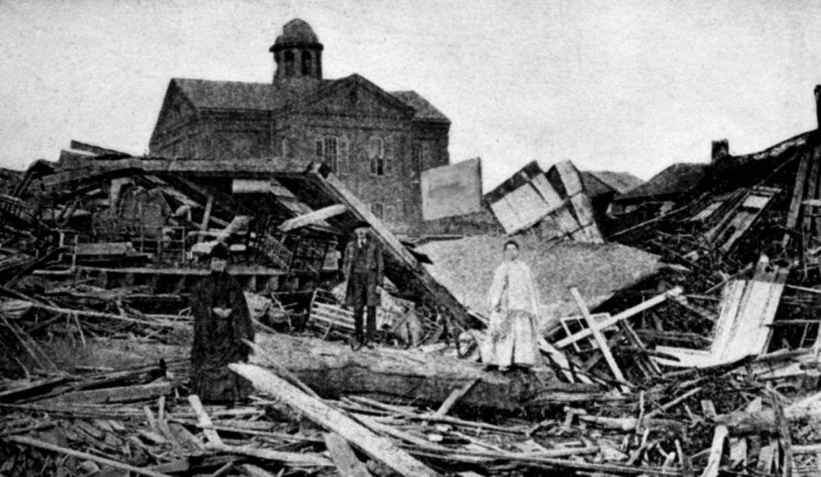 File Galveston 1900 Homes Jpg Galveston Hurricane 1900 Galveston Hurricane Galveston