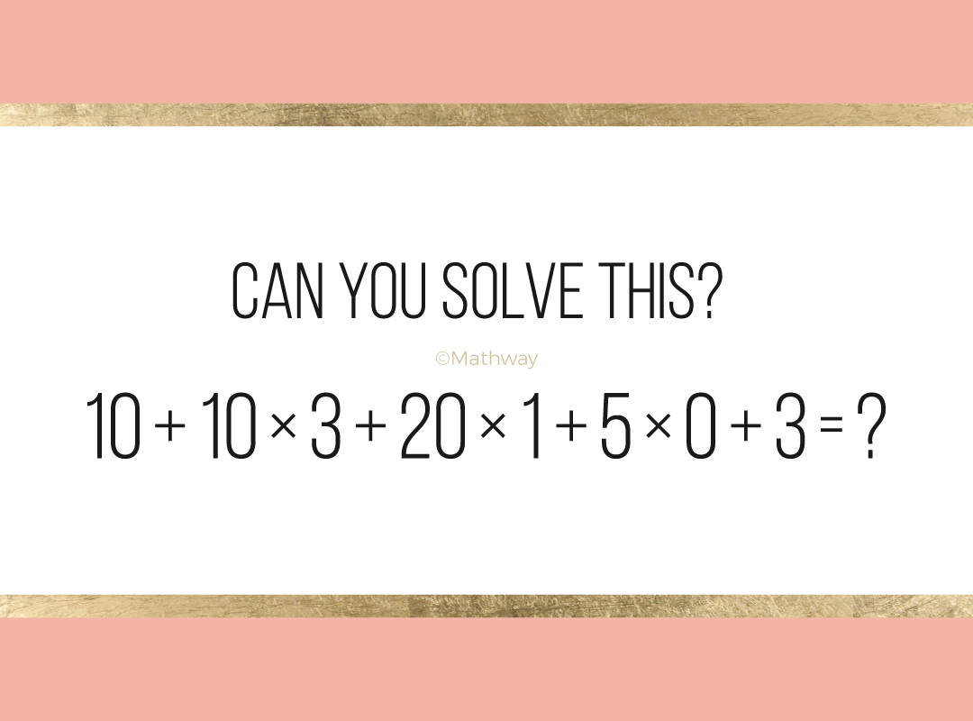 What Do You Think The Answer Is Brain Teasers Math Solving