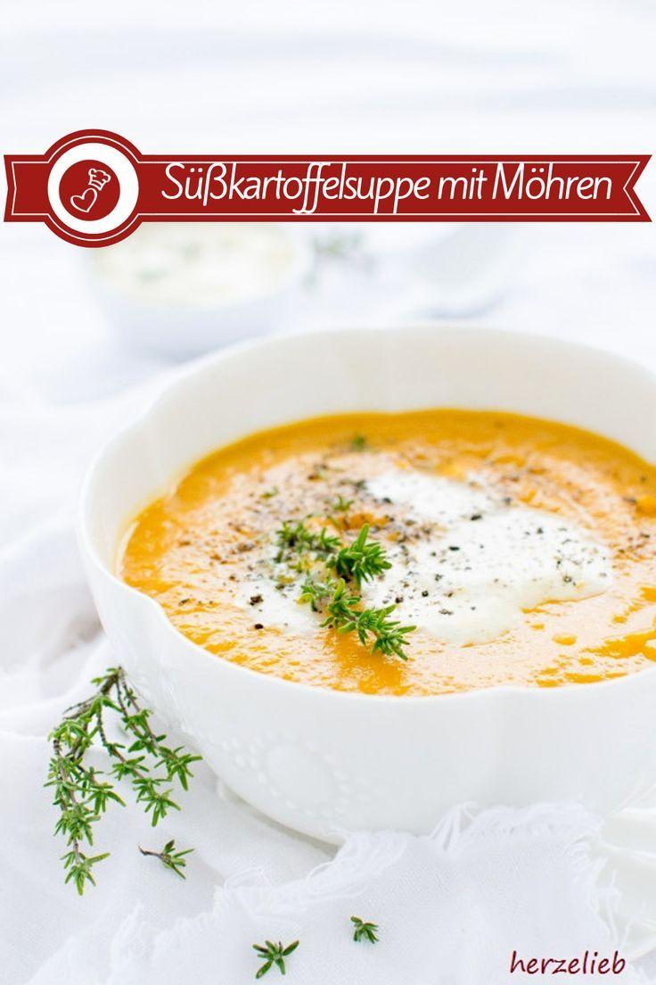 Süßkartoffelsuppe mit Möhren - geröstet und einfach gut! (Suppe)