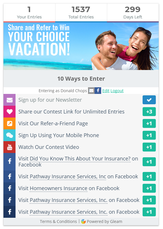 Have You Seen Our New And Improved Your Choice Vacation Contest
