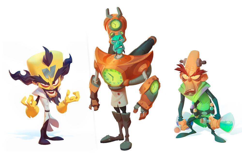 Artstation Crash Bandicoot 4 Villains First Look Nicholas Kole Crash Bandicoot Bandicoot Cartoon Network Art