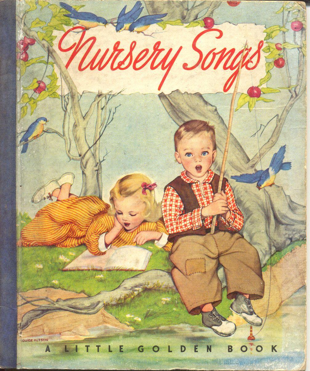 Little Golden Book, Nursery Songs, With Blue Binding