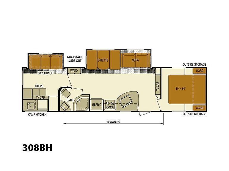 2015 skyline nomad 308bh bunkhouse 20k to 28k rvs