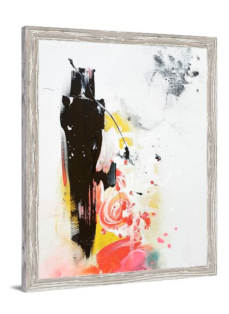 Black Honey Abstract canvas art by Lindsay Letters.
