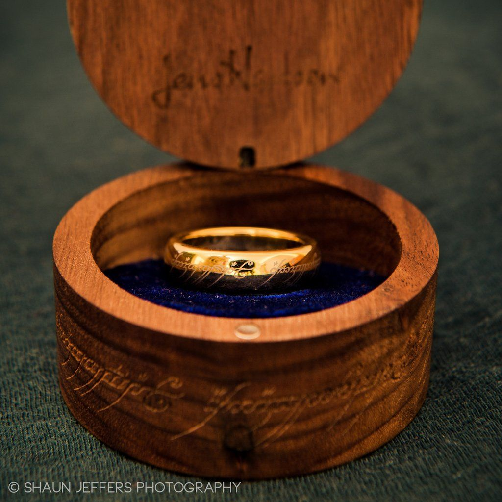 the lord of the rings the one ring gold plated tungsten carbide with - The One Ring Wedding Band