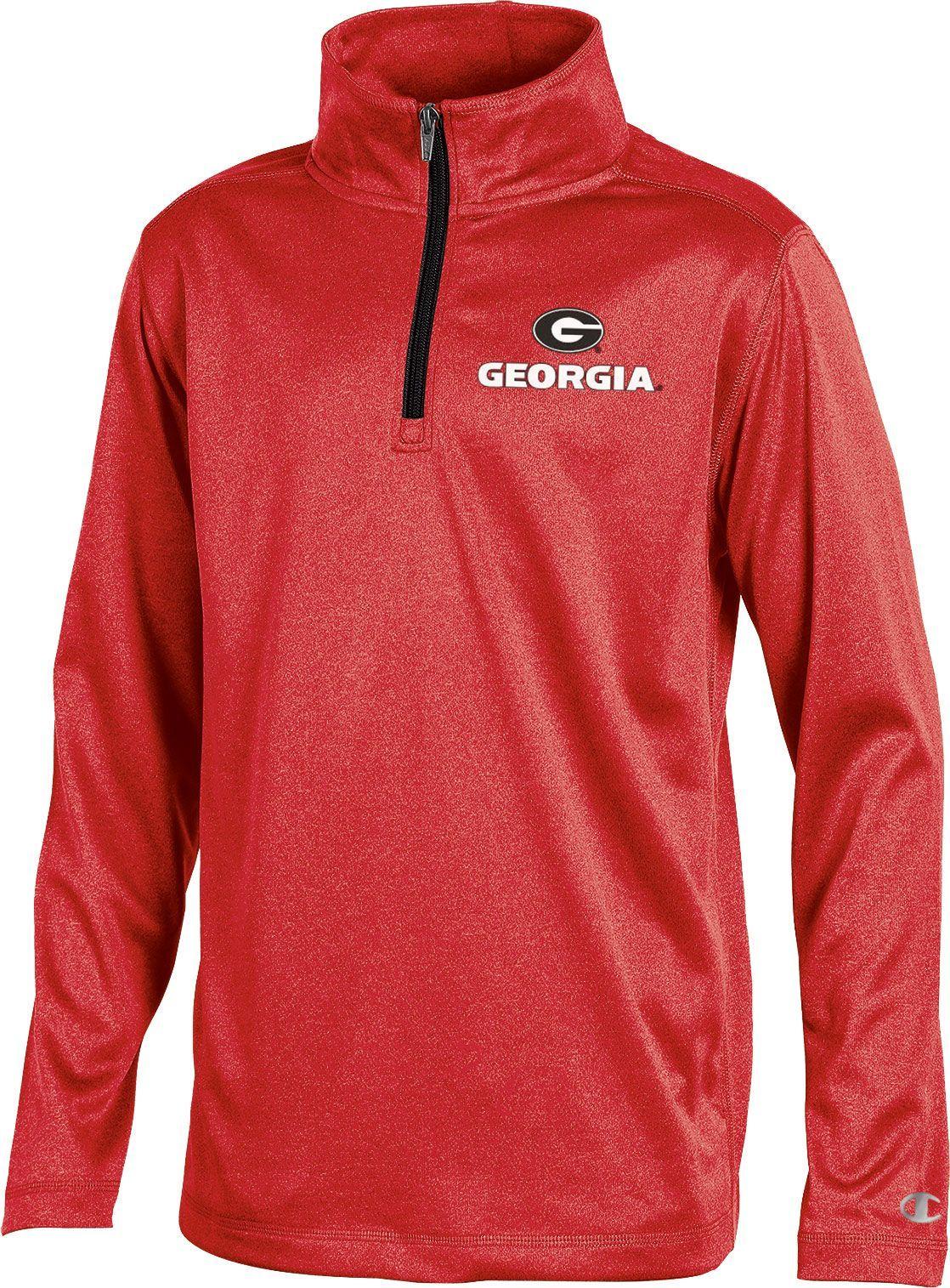 30f51b4b Champion Youth Georgia Bulldogs Red Quarter-Zip Performance Shirt, Size:  Medium