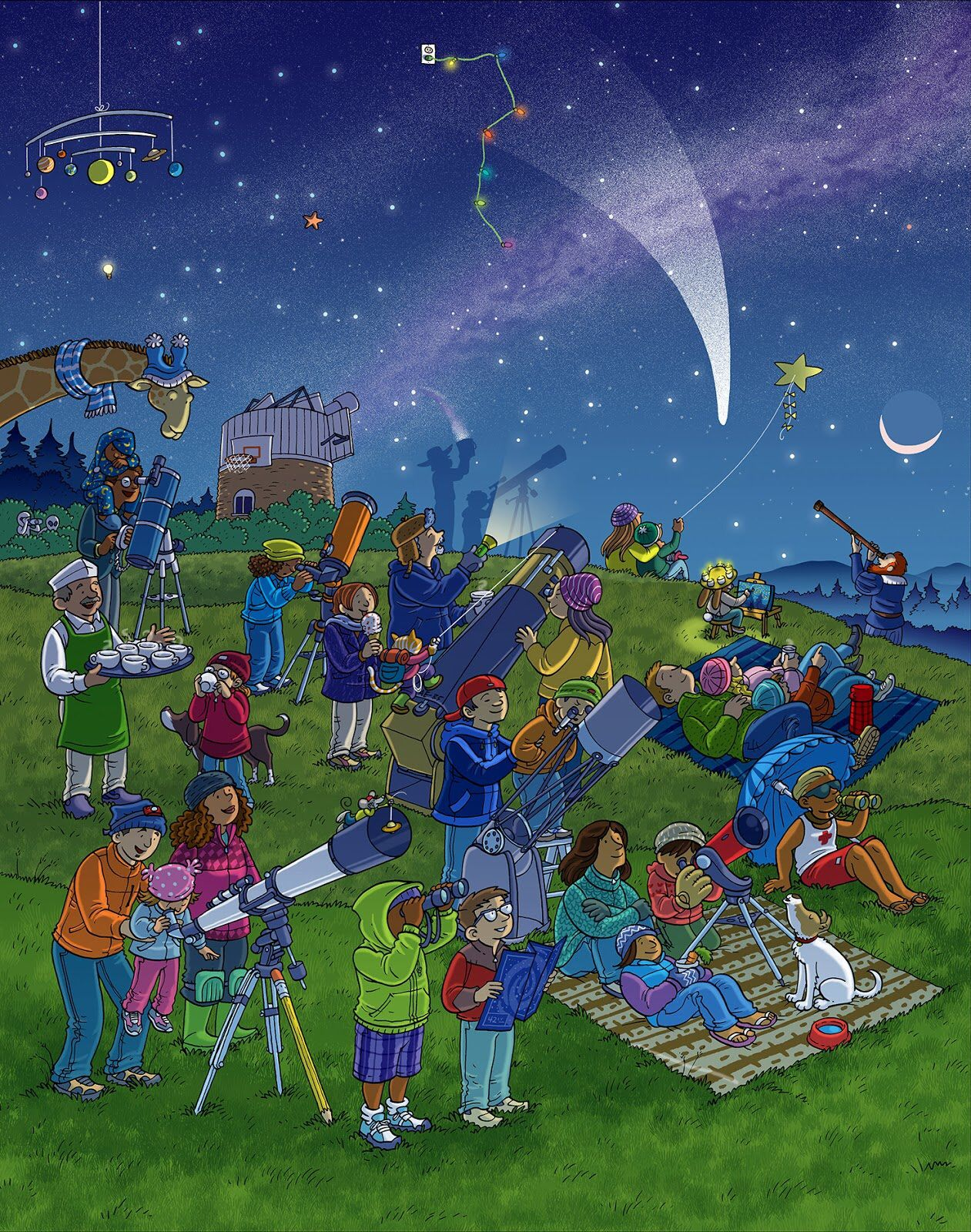 Stargazing Whats Wrong Wimmelbild Created For Highlights